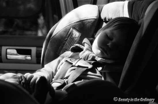 Sleeping in the car